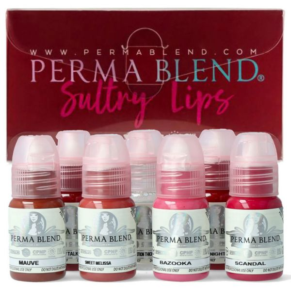 PERMA BLEND SULTRY LIP COLLECTION SET - Permanent make up pigmentek